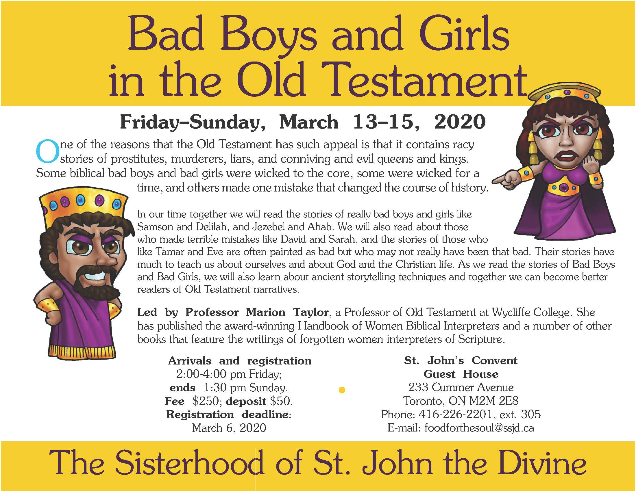 Bad Boys and Girls of the Old Testament