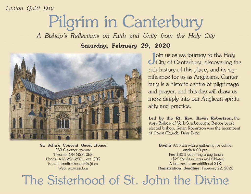 Lenten Quiet Day – Pilgrim in Canterbury