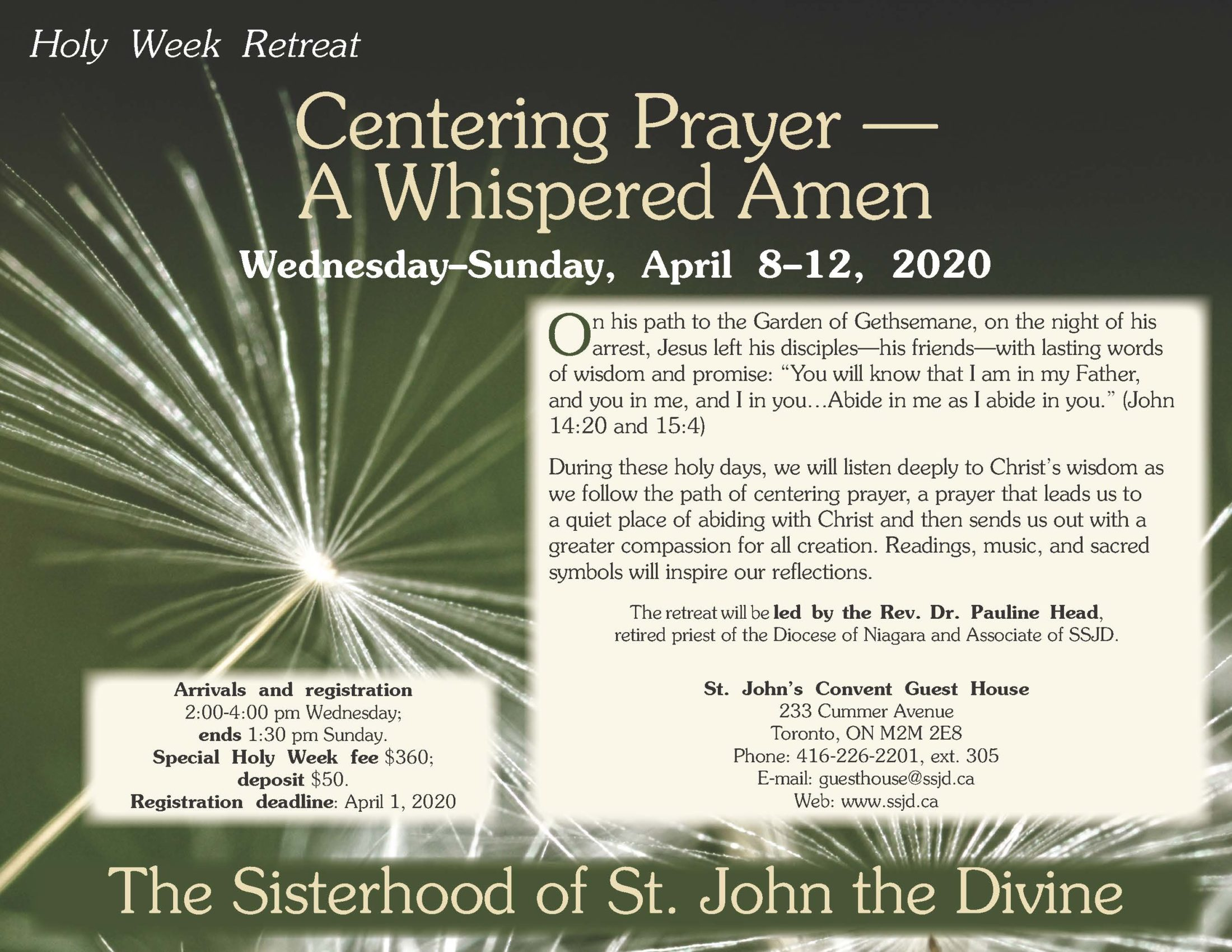Holy Week Retreat: Centering Prayer—A Whispered Amen