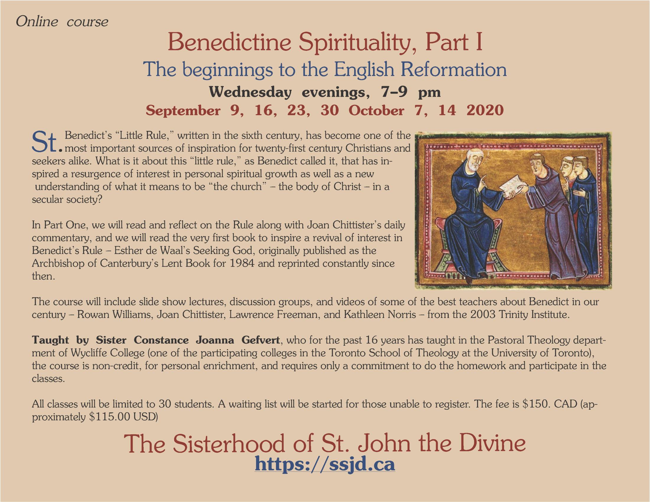 Benedictine Spirituality Part 1