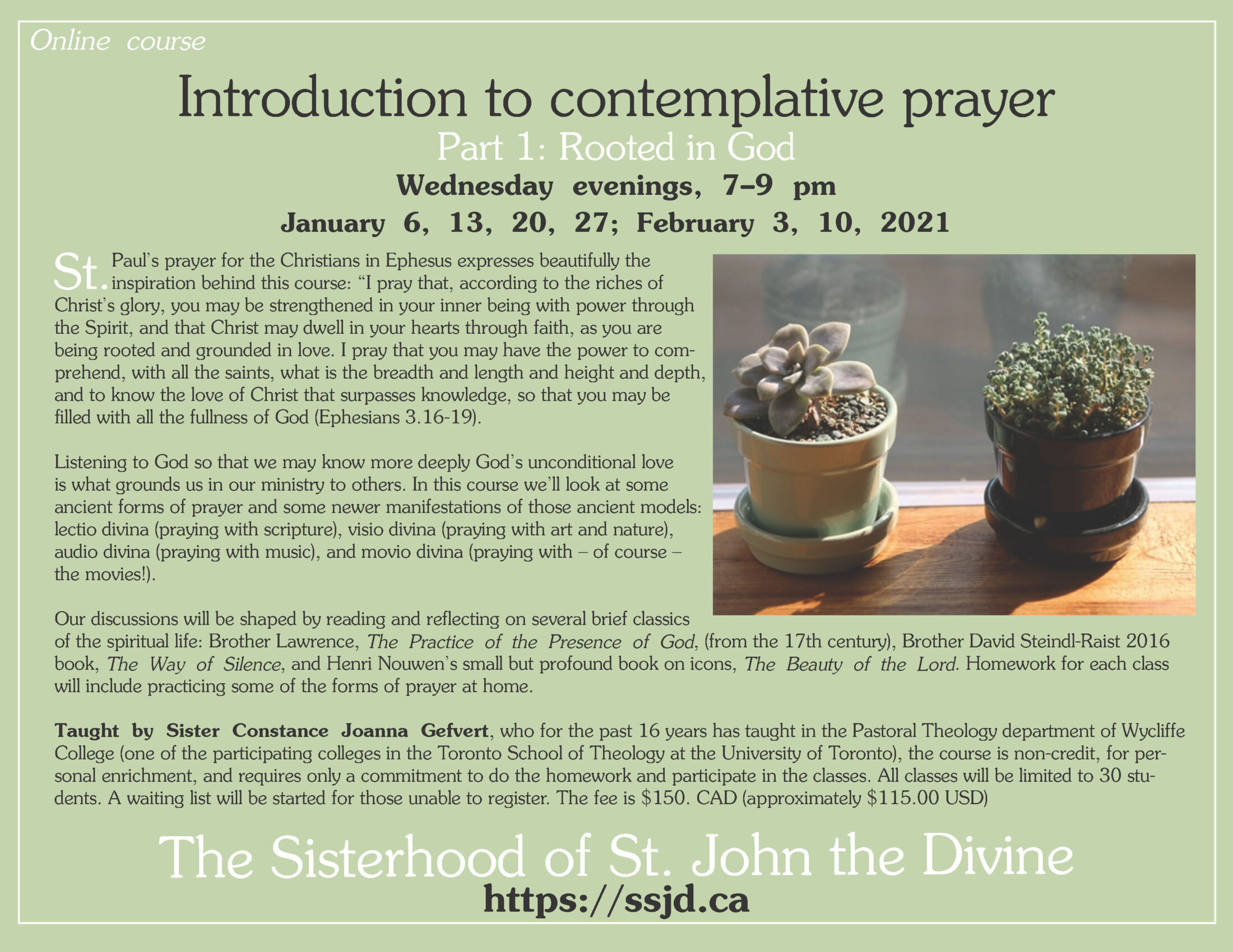 Introduction to Contemplative Prayer: Part 1- Rooted In God