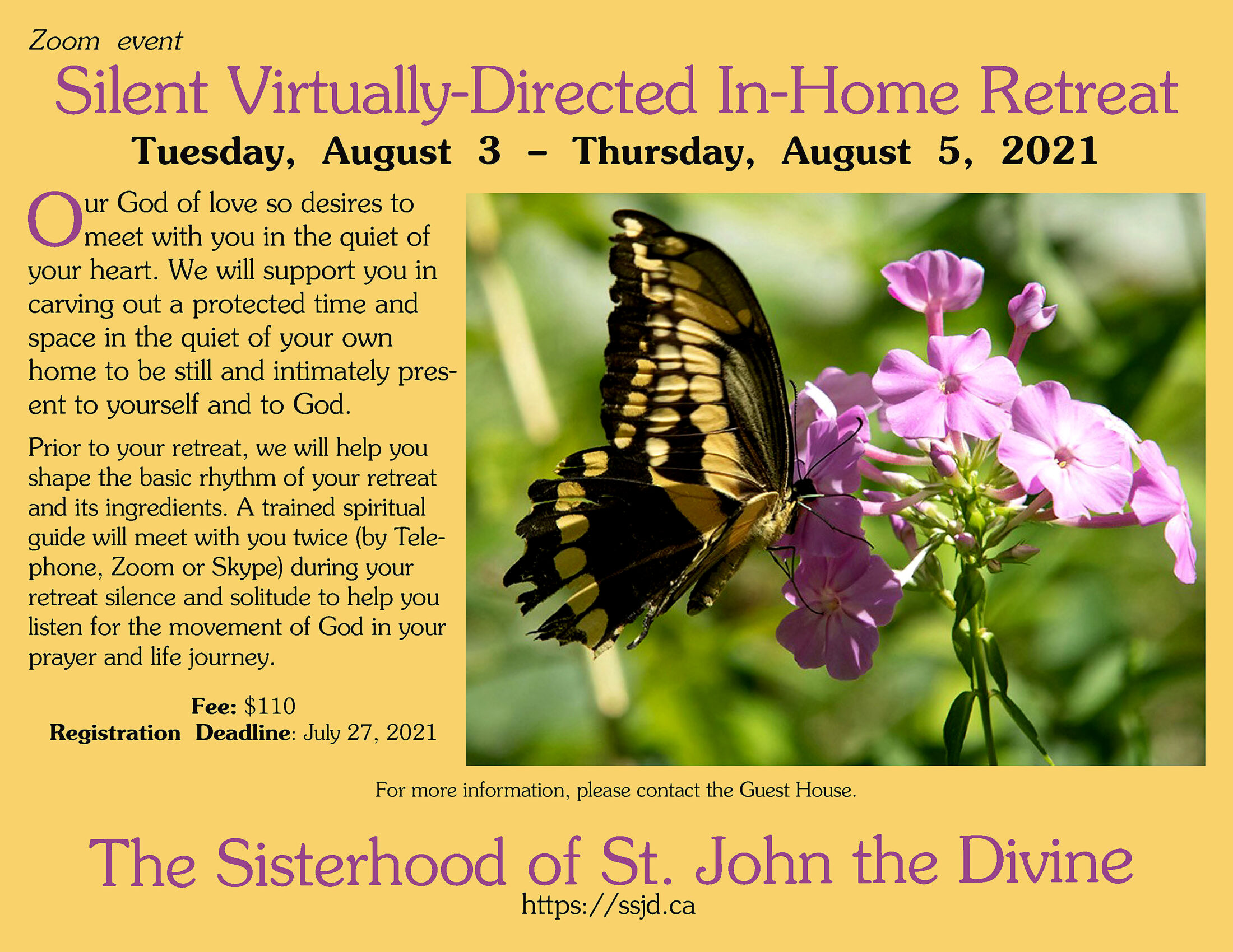Silent Virtually- Directed In-Home Retreat