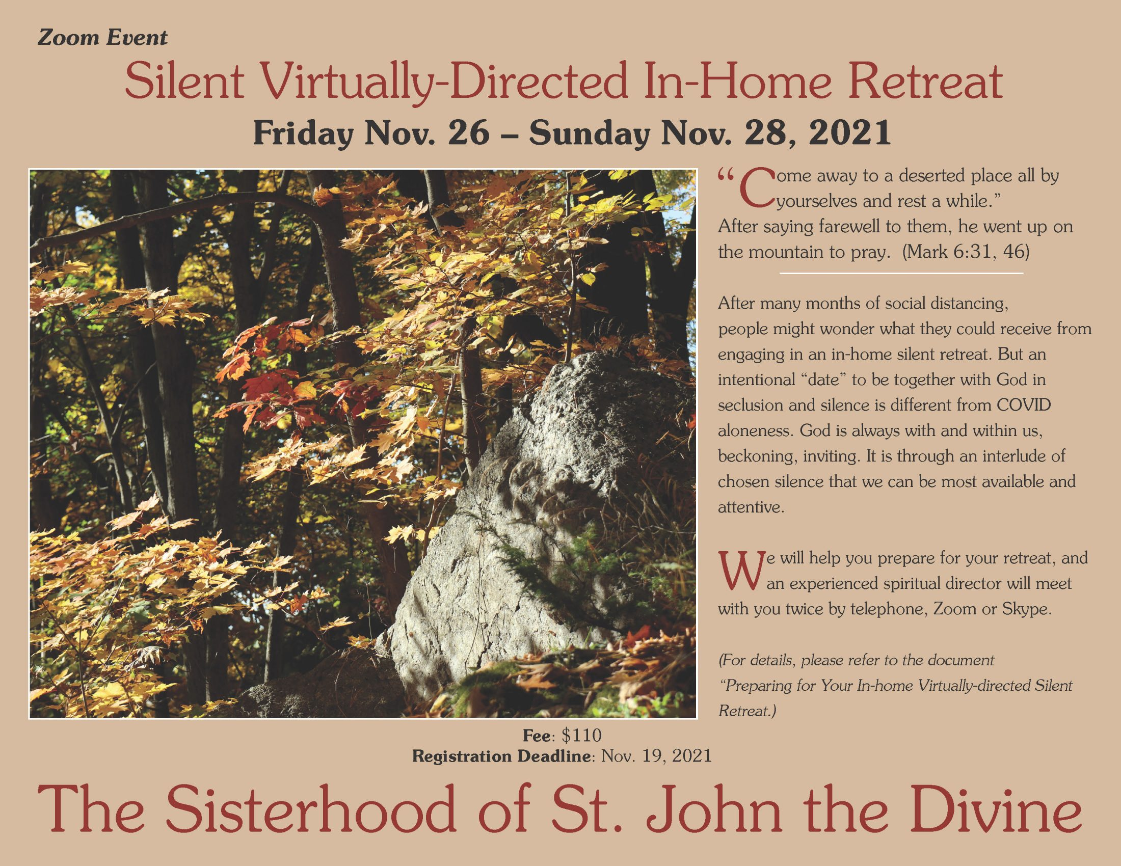 Silent Virtually-Directed In-Home Retreat
