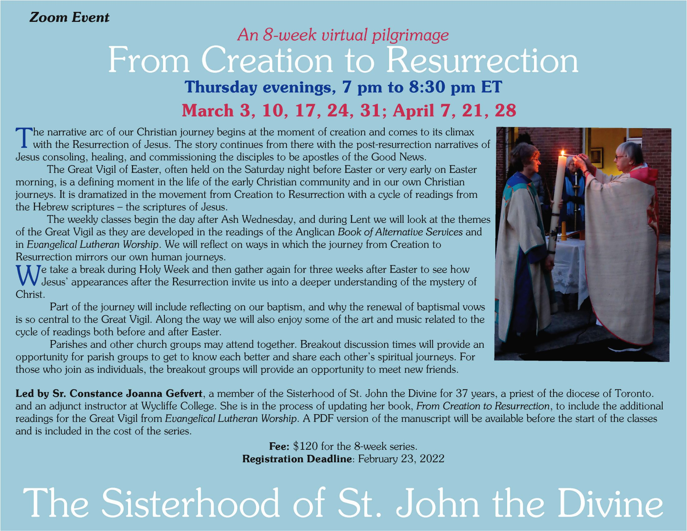 A Journey from Creation to Resurrection